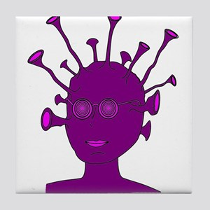 Purple Creature With Antennae Tile Coaster
