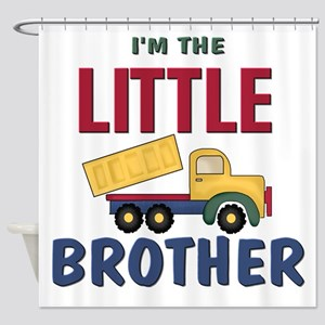 Litte Brother Dump Truck Shower Curtain
