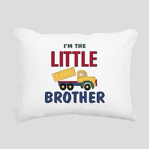 Litte Brother Dump Truck Rectangular Canvas Pillow