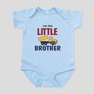 Litte Brother Dump Truck Infant Bodysuit
