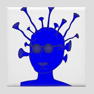 Blue Creature With Antennae Tile Coaster