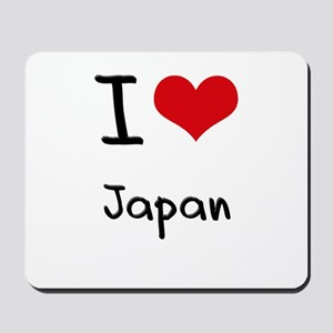 I Love Japan Mousepad