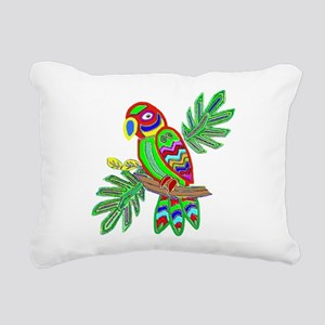 PARROT Rectangular Canvas Pillow