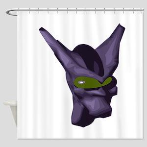 Purple Alien Head Shower Curtain