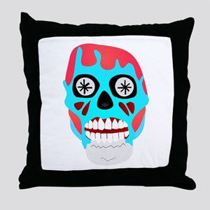Scary Monster Face Throw Pillow