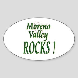 Moreno Valley Rocks ! Oval Sticker