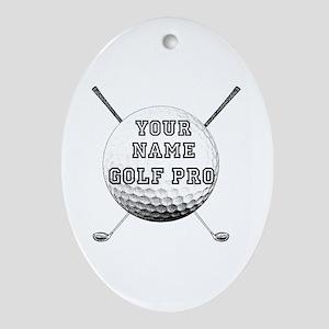 Custom Golf Pro Ornament (Oval)