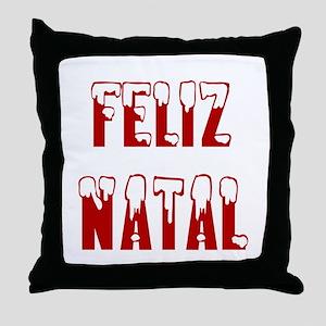 Feliz Natal Throw Pillow