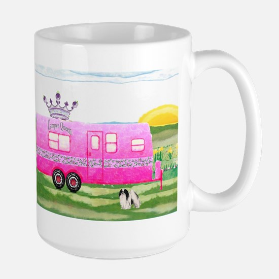camper travel trailer camping queen Mug