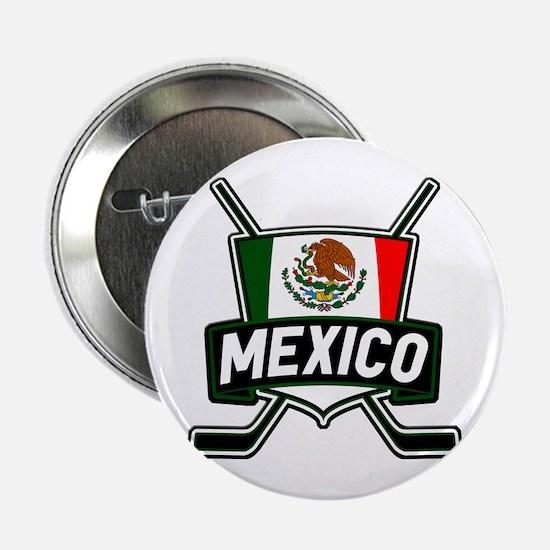 "Mexico Ice Hockey Shield 2.25"" Button"