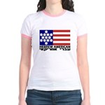 Hebrew Flag Jr. Ringer T-Shirt