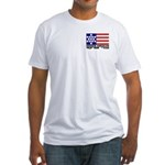 Hebrew Flag Fitted T-Shirt