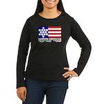 Hebrew Flag Women's Long Sleeve Dark T-Shirt