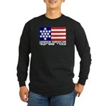 Hebrew Flag Long Sleeve Dark T-Shirt