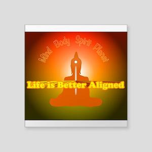 Life is Better Aligned logo orange Buddha Sticker