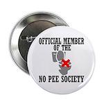 No Pee Society Button