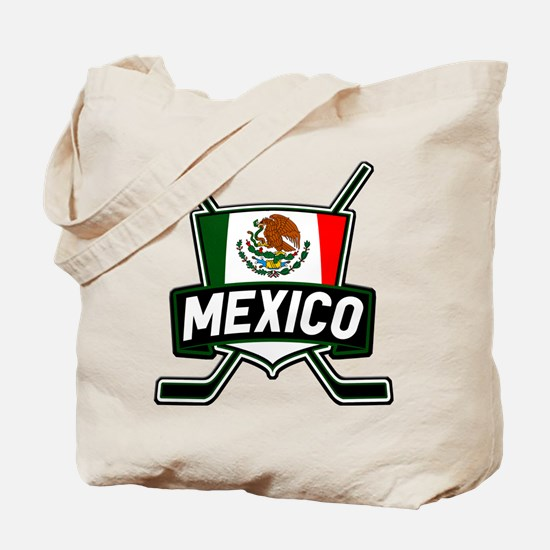Mexico Ice Hockey Shield Tote Bag