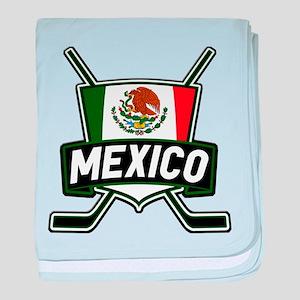 Mexico Ice Hockey Shield baby blanket