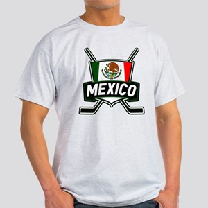 Mexico Ice Hockey Shield T-Shirt