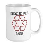 Recycled Parts Inside Large Mug