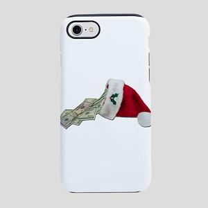 MoneyPouringSantaHat091711 iPhone 7 Tough Case