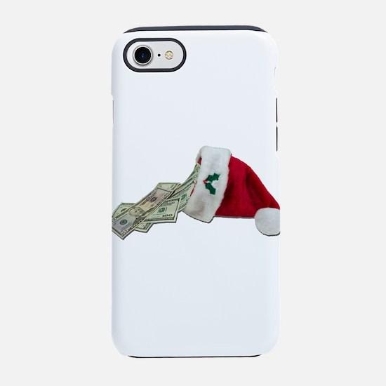MoneyPouringSantaHat091711.png iPhone 7 Tough Case