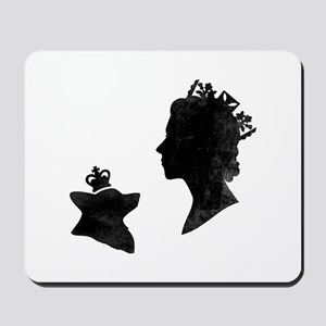Queen and Corgi - Mousepad