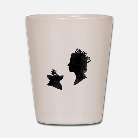 Queen and Corgi - Shot Glass
