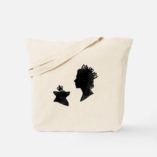 Queen and Corgi - Tote Bag
