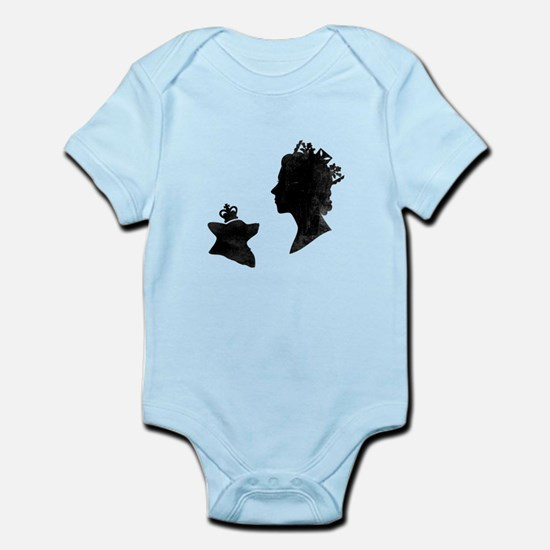Queen and Corgi - Baby Bodysuit