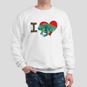 I heart iguanas Sweatshirt