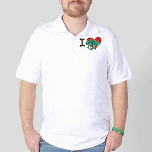 I heart iguanas Golf Shirt