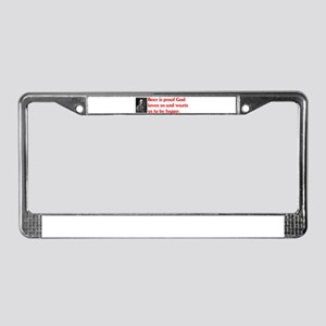 Ben Franklin Beer Quote License Plate Frame