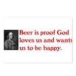 Ben Franklin Beer Quote Postcards (Package of