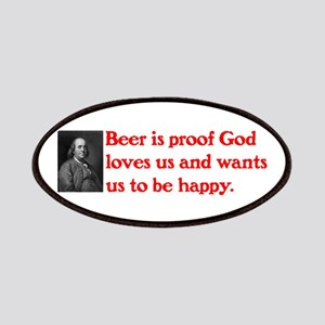 Ben Franklin Beer Quote Patches