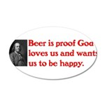 Ben Franklin Beer Quote Wall Decal