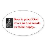 Ben Franklin Beer Quote Sticker