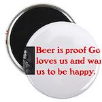 Ben Franklin Beer Quote Magnet