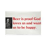 Ben Franklin Beer Quote Rectangle Magnet (10 p