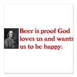 Ben Franklin Beer Quote Square Car Magnet 3