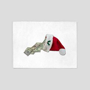 MoneyPouringSantaHat091711 5'x7'Area Rug