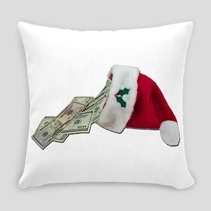 MoneyPouringSantaHat091711 Everyday Pillow