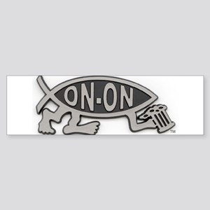 HashFish - On-On - BW Bumper Sticker