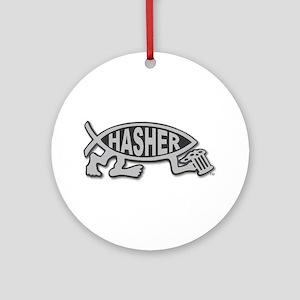 HashFish - Hasher - BW Ornament (Round)