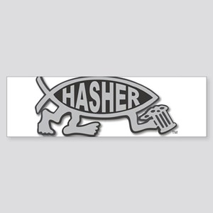 HashFish - Hasher - BW Bumper Sticker