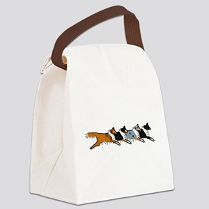Group O' Shelties Canvas Lunch Bag