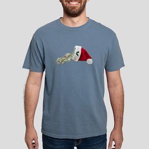 MoneyPouringSantaHat0917 Mens Comfort Colors Shirt