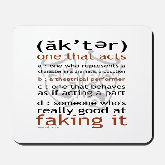 Actor (ak'ter) Meaning Mousepad