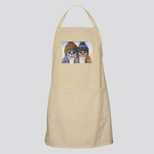 The knitwear cat sisters Apron
