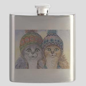 The knitwear cat sisters Flask